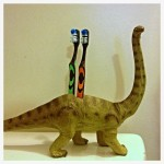 Dinosaur Toothbrush Holder: Pinterest SUCCESS